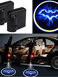 cheap -2PCS Wireless Car Projection Light LED Door Welcome Ghost Shadow Light Logo No Drilling Required