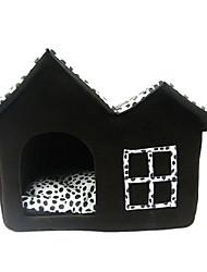 Недорогие -Собака Матрас Кровати Одеяла Палатка Пещера Кровать Дом домашних животных Кожа Животные Одеяла Однотонный Черный
