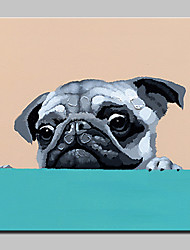 cheap -Hand Painted MOE of Dog Animal Oil Painting On Canvas Modern Art Wall Pictures For Home Decoration Ready To Hang