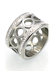 cheap -Men's Women's Ring Statement Ring Band Ring AAA Cubic Zirconia Personalized Geometric Circular Unique Design Vintage Statement Jewelry