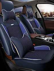 The 5 Seat Car Seat Leather Seat Cover Silk Cushion Surrounded By Four Seasons General 3D Stereo Blue