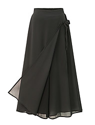 cheap -Women's Street chic Plus Size Loose Culotte Relaxed Pants Bow High Rise