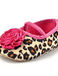 cheap -Baby Kids' Loafers & Slip-Ons First Walkers Fabric Summer Fall Party & Evening Dress Casual Animal Print Flower Flat Heel Rose Pink Flat