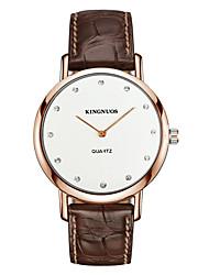 Men's Fashion Watch Wrist watch Quartz Imitation Diamond Leather Band Casual Black Brown