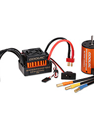 cheap -GoolRC Upgrade Waterproof 3650 4300KV Brushless Motor with 60A ESC Combo Set for 1/10 RC Car Truck