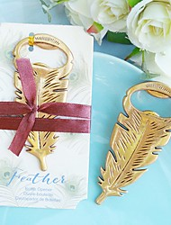 cheap -Gilded Gold Feather Bottle Opener Beter Gifts® Tea Party Favor