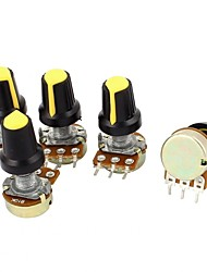 5 Piece 10K Ohm Linear Taper Rotary Potentiometer  B10K