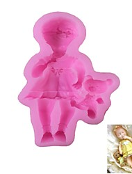 cheap -Little Girl Pattern  Candy Fondant Cake Molds  For The Kitchen Baking Molds