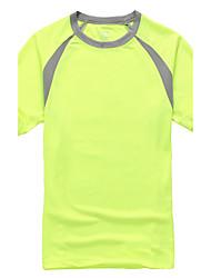 Tee-shirt Homme,Couleur Pleine Vêtements de Plein Air Sortie Décontracté / Quotidien Grandes Tailles simple Actif Eté Manches CourtesCol