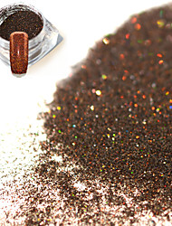 cheap -0 2g bottle fashion dark brown shining pigment decoration nail art glitter holographic fine powder diy charm shining design jx14