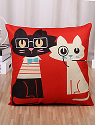 cheap -1 pcs Cotton/Linen Pillow Case Pillow Cover, Fashion Cartoon Novelty Vintage Casual European Neoclassical Traditional/Classic Retro