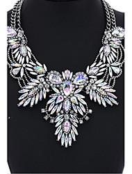 Mulheres Gargantilhas Colarinho Cristal Pedras preciosas sintéticas Vidro Esmalte Básico Circular Original Clássico Personalizado