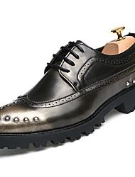economico -Da uomo Scarpe Pelle Primavera Autunno Sneakers Footing Perline Per Oro Nero Borgogna