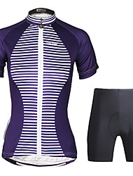cheap -ILPALADINO Women's Short Sleeves Cycling Jersey with Shorts - Black Bike Clothing Suits, 3D Pad, Quick Dry, Ultraviolet Resistant,