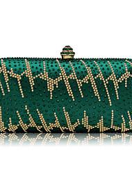 Недорогие -Жен. Мешки Полиэстер / Нейлон Вечерняя сумочка Crystal / Rhinestone Графика / живопись Зеленый