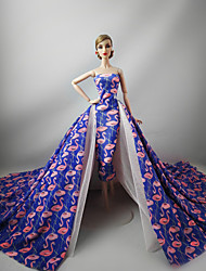 cheap -Party/Evening Dresses in Pink Purple For Barbie Doll For Girl's Doll Toy