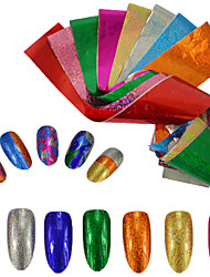cheap -9pcs/set Nail Sticker Foil Sticker Nail Stamping Template Nail Art Design Glamorous Glitter Nail Decals
