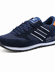Running Shoes Men's Athletic Shoes Comfort Fleece Spring Summer Outdoor Athletic Casual  Lace-up Flat Heel Light Grey Navy Blue Flat