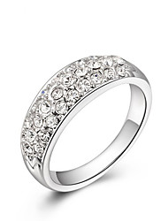cheap -Women's Alloy Statement Ring - Fashion White Ring For Wedding / Office & Career