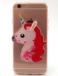 For iPhone X iPhone 8 Case Cover Flowing Liquid Transparent Pattern DIY Back Cover Case Unicorn Cartoon Soft TPU for Apple iPhone X