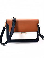 Women Shoulder Bag PU All Seasons Formal Casual Wedding Outdoor Office & Career Professioanl Use Baguette Push Lock Pinky Brown Blue