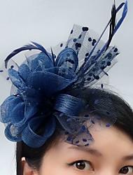 economico -Tulle Veletta / fascinators / cappelli con Piume 1 Serata / evento Copricapo