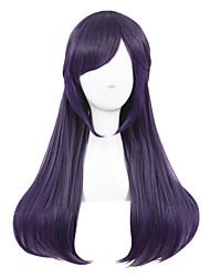 cheap -Medium Beautiful Purple Mixed Straight Synthetic 26inch Anime Cosplay Lolita wig CS-122A