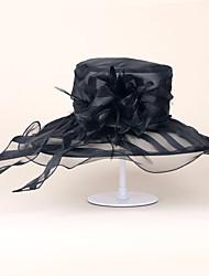 chapéus de organza festa de noivado festa de casamento elegante estilo feminino clássico