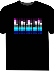 LED T-shirts 100% Cotton 2 AAA Batteries