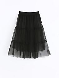 Girls Solid Skirt-Cotton Summer