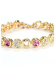 Women's Chain Bracelet Jewelry Natural Fashion Vintage Handmade Crystal Alloy Round Heart Irregular Jewelry For Wedding Party Anniversary