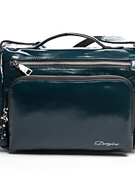 Men Bags All Seasons Cowhide Shoulder Bag Smooth for Business Casual Formal School Date Work Office & Career Black Navy Blue