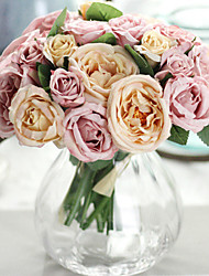 cheap -Artificial Flowers 9 Branch Wedding Flowers Roses Tabletop Flower