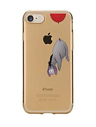 Per iPhone X iPhone 8 Custodie cover Transparente Fantasia/disegno Custodia posteriore Custodia Cartoni animati Morbido TPU per Apple