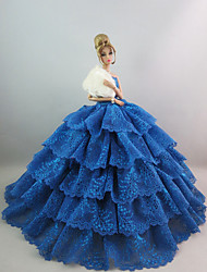 Party/Evening Dresses For Barbie Doll Green Blue Lace Dresses For Girl's Doll Toy