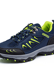 Hiking Shoes Men's Athletic Shoes Comfort Fabric Spring Fall Athletic Flat Heel Army Green Gray Dark Blue   Shoes