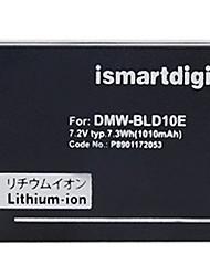 Ismartdigi BLD10E 7.2V 1010mAh Camera Battery for Panasonic DMC-GF2 GF2GK G3 G3GK GX1 GX1GK
