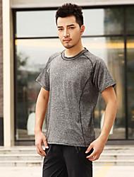 Homens Camiseta de Trilha Secagem Rápida Conjuntos de Roupas para Correr Verão M L XL