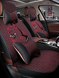 Car Seat Cushion Car Seat Cover Family Car Seat 5 Seasons General Cartoon Ice black silk.