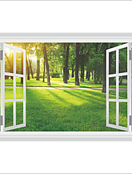 3D Wall Stickers Wall Decas Style Afternoon Sunshine Forest Lawn PVC Wall Stickers