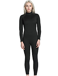 Women's Full Wetsuit Skidproof Terylene Diving Suit Long Sleeves Diving Suits-Diving & Snorkeling Spring/Fall Solid
