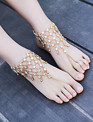 cheap -Barefoot Sandals - Flower Fashion Gold / Silver For Dailywear / Casual / Outdoor clothing / Women's / Rhinestone
