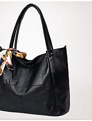 Damen Taschen PU Umhängetasche für Normal Ganzjährig Schwarz