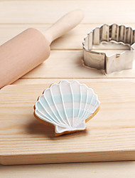 cheap -Ocean Scallop Shell Sea Cookies Cutter Stainless Steel Biscuit Cake Mold Metal Kitchen Fondant Baking Tools