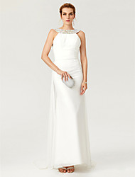 preiswerte -Eng anliegend Bateau Hals Pinsel Schleppe Chiffon Formeller Abend Kleid mit Kristall Verzierung Drapiert durch TS Couture®