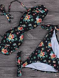 Womens Vintage Floral Swimsuit Bikini