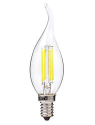 Недорогие -BRELONG® 1шт 4 W LED лампы накаливания 400 lm E14 C35 4 Светодиодные бусины COB Тёплый белый Белый 220-240 V / 1 шт.