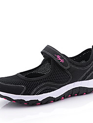 cheap -Women's Shoes Suede Tulle Spring Summer Comfort Sandals Walking Shoes Flat Heel Round Toe Buckle Split Joint for Athletic Casual Outdoor