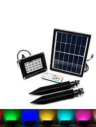 1pcs 20led RGB Solar Floodlight Can Dimmable with Remote Control LED Solar Lights Waterproof Solar Lamp Multi-function IP65
