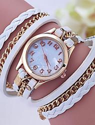 cheap -Women's Bracelet Watch Digital Metal Band Analog Black / White / Red - Green Pink Navy